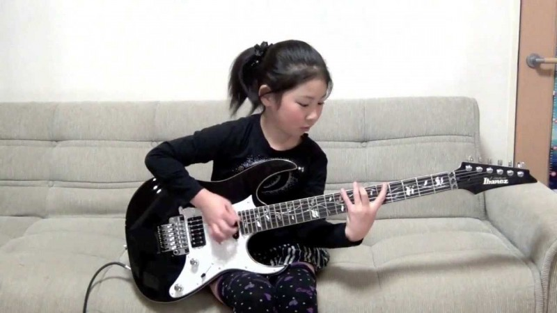 An incredible upcoming baby guitarist