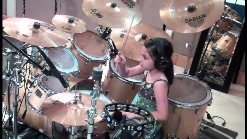 10 Year Old Girl- Youngest Fabulous Drummer